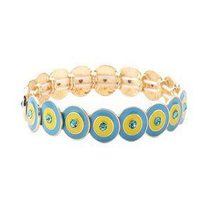 Jewelry - Tigerstars Blue Crystal Evil Eye Stretchy Bracelet